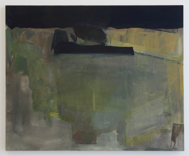 Silence up there, on the ceiling, 2012, Oil on cotton, 50 x 61 cm