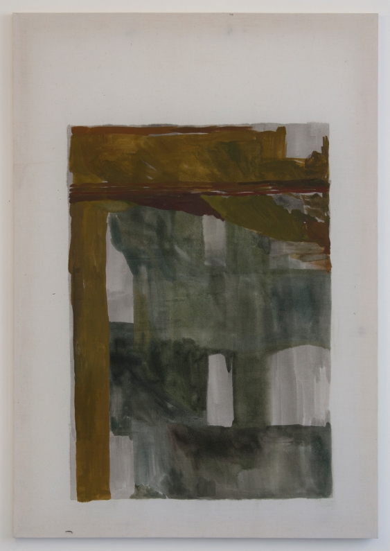 Untitled, 2012, Oil paint and ink on cotton, 114.3 x 79.5 cm