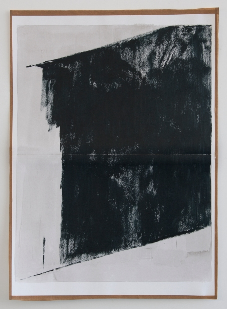 Black afternoon window, 2012, Oil paint and ink on paper and gum tape, 64.1 x 46 cm