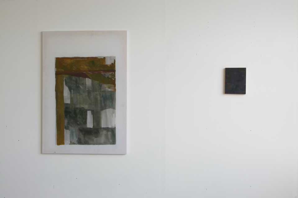 Untitled, 2012, and Where in darkness or nothing to fall or not to be seen, 2012