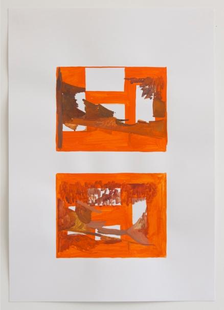 Element from Dusk, 2013, Oil paint on paper, Each sheet 64 x 45 cm