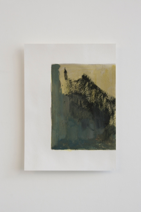 Element of 'Yellow window', 2013, Various materials including oil paint and ink on papers, each sheet around 22 x 15 cm, overall dimensions variable