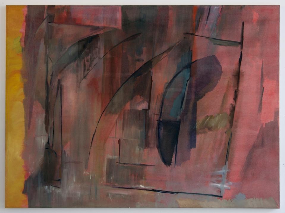 Wall, a foil, a distance, 2012, Oil on cotton, 85 x 113 cm