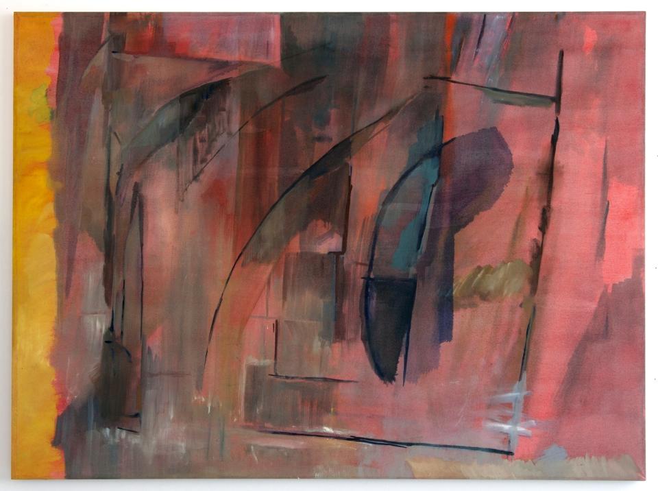 Wall, a foil, a distance, 2012, Oil on cotton, 85 x 113 cm, low res
