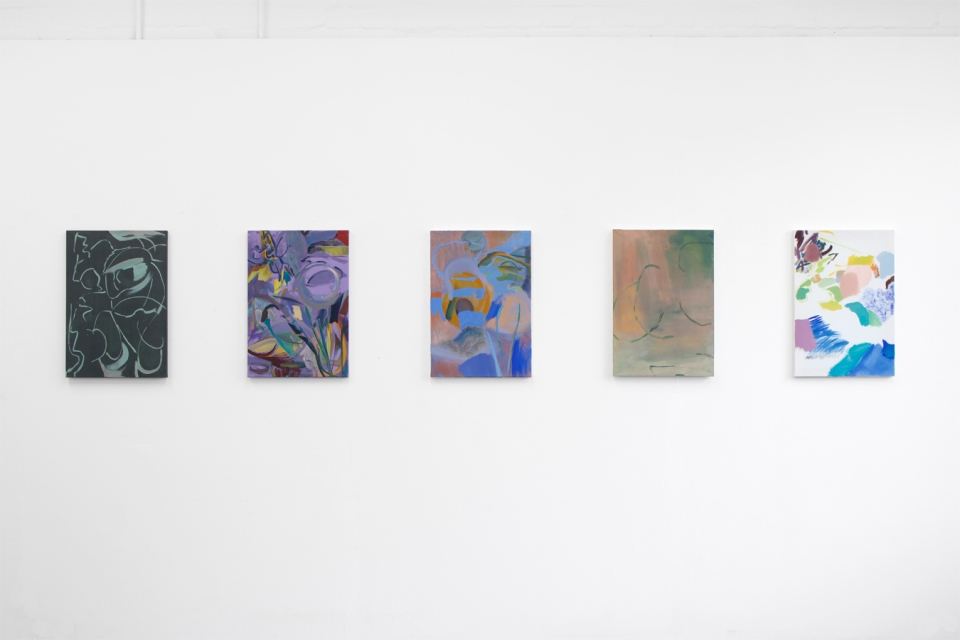 Wendy McLean, Install set of five_2, Pits, 2019 low res